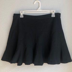 Derek Lam 10 Crosby black mini shift skirt